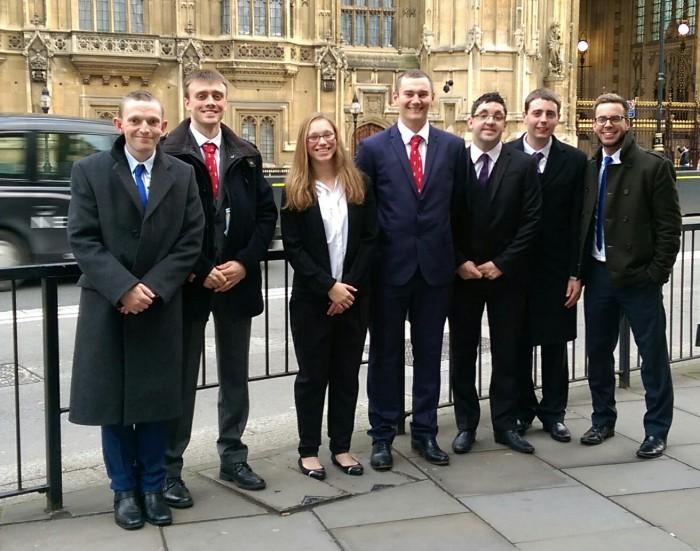 Ambassadors outside House of Lords